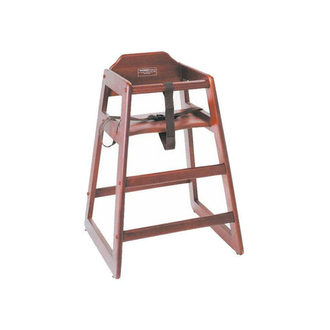 NELLA WOODEN HIGH CHAIR - MAHOGANY - 80612