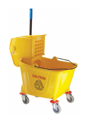 JOHNSON-ROSE 8536 36 Qt. YELLOW MOP BUCKET WITH WRINGER