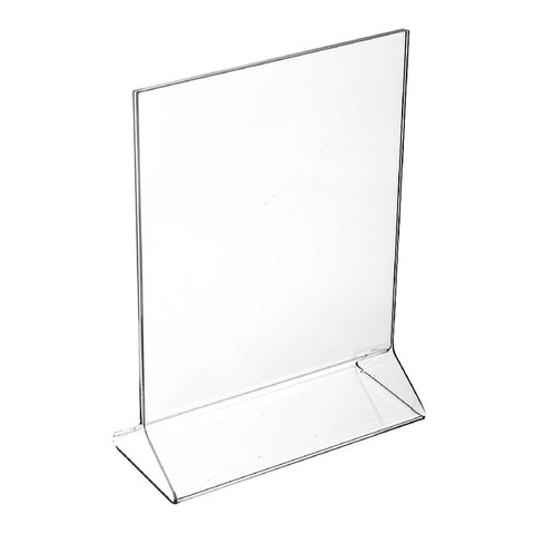 "Update International ACH-57 5"" x 7"" Clear Acrylic Menu Stand"
