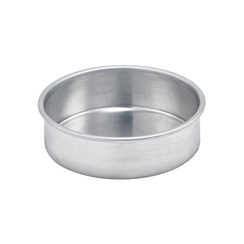 "Winco ACP-032 3"" x 2"" Aluminum Layer Cake Pan"