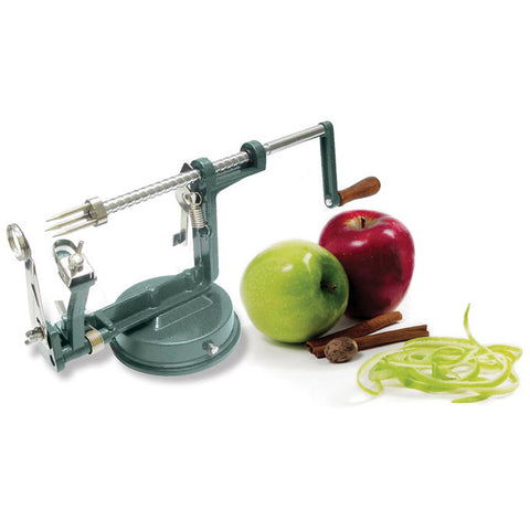 "Winco AP-12 10"" Manual Cast Aluminum Apple Peeler with Stainless Steel Blade"