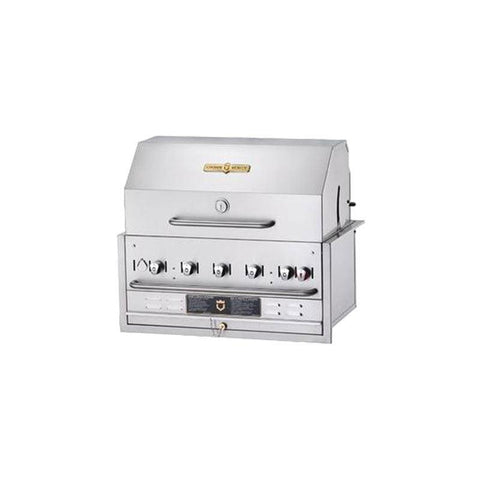 "Crown Verity BI-36 36"" Built-In BBQ Grill with Roll Dome Package - Natural Gas - Nella Cutlery Toronto"