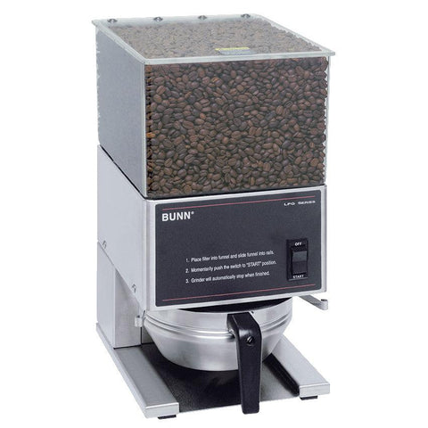 Bunn LPG Low Profile 6 lb. Single Hopper Coffee Grinder - 120V - 20580.0001