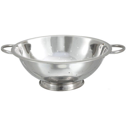 Winco COD-14 14 Qt. Stainless Steel Colander with Base