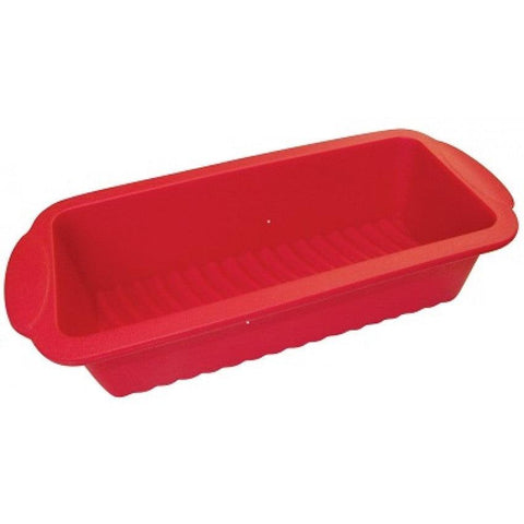 "La Patisserie CS-F-LO 9"" x 5"" Red Silicone Bread Pan"