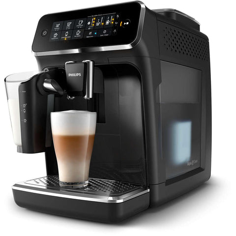 Philips Saeco 3200 Series LatteGo Fully Automatic Espresso Machine - Glossy Black - EP3241/54