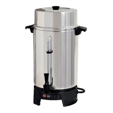 "Focus Food Service FCMLA100 20"" 100-Cup Commercial Coffee Urn - 120V/60Hz"