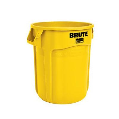 Rubbermaid FG261000YEL 10 Gallon Commercial Trash Can - Yellow