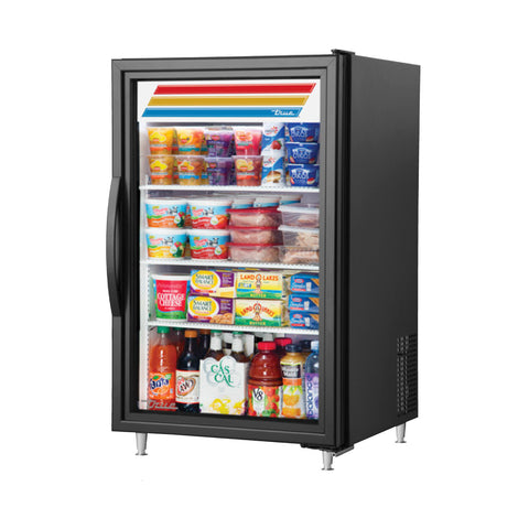 TRUE GDM-07-HC~TSL01 BLK GLASS DOOR MERCHANDISER
