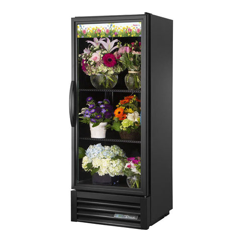 True GDM-12FC-HC~TSL01 Glass Swing Door Floral Case Refrigerator