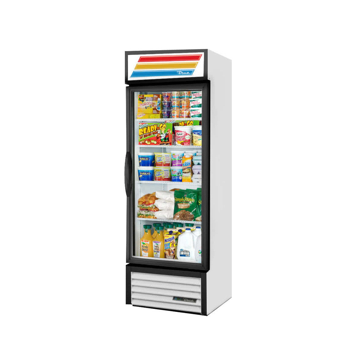 True Gdm 19t Hctsl01 27 White Glass Door Refrigerated Merchandiser