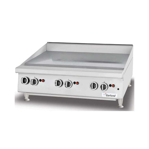 "GARLAND 36"" THERMOSTATIC GAS GRIDDLE - GTGG36-GT36M - Nella Online Toronto"