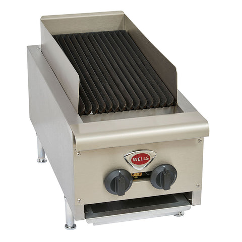 "WELLS HDCB-1230G NATURAL GAS 14"" RADIANT CHARBROILER WITH CAST IRON GRATES - 40,000 BTU"