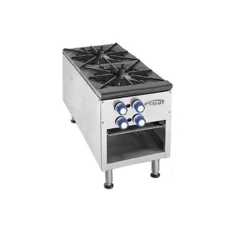 IMPERIAL TWO 3-RING BURNER GAS STOCK POT RANGE - ISPA-18-2 - Nella Cutlery Toronto
