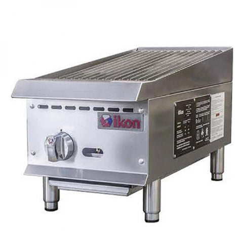 "IKON Radiant Charbroiler, Natural Gas, 12"" W x 34.4"" D, 35,000 BTU ′U′ Shape Burners - IRB-12"