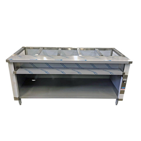 "Nella 72"" Single Tank 5 Well Electric Steam Table - IST-5"
