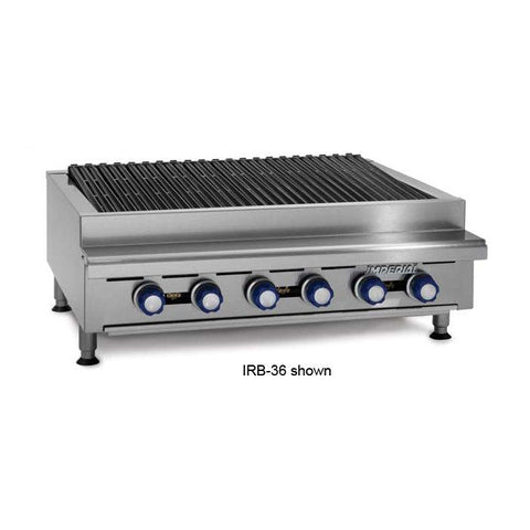 "Imperial IRB-24 24"" Countertop Radiant Gas Charbroiler - 60,000 BTU"