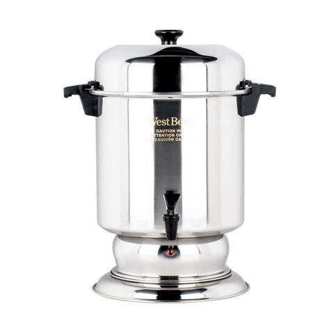 WEST BEND K1355A 55 CUP STAINLESS STEEL COFFEE URN