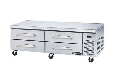 "Kool-It 74"" Refrigerated Chef Base - KCB-74-4M"