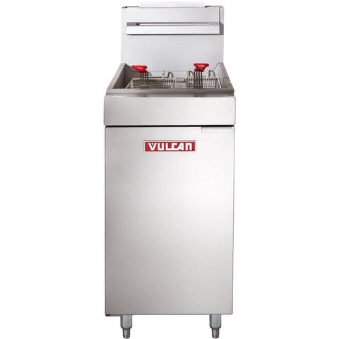 VULCAN LG300-1 35-40 LB. NATURAL GAS FLOOR FRYER - 90,000 BTU
