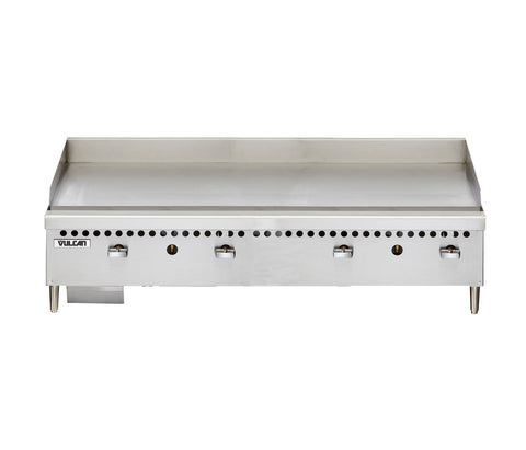 "Vulcan VCRG48-M Restaurant Series Countertop 48"" Natural Gas Griddle - 100,000 BTU/hr"
