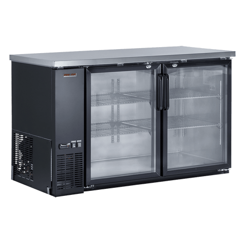 "New Air NBB-60-SG 59"" Refrigerated Back Bar Cooler with Glass Door"