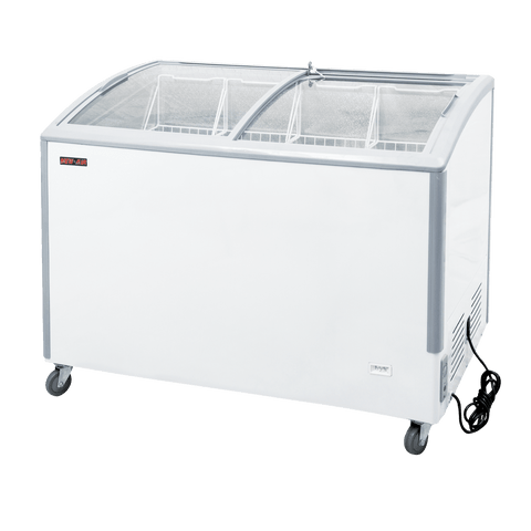 New Air NIF-49-CG 11.6 Cu.Ft. Ice Cream Freezer with Curved Glass Top