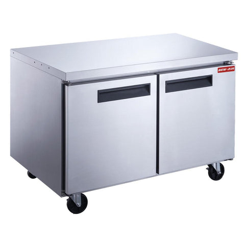 "New Air NUF-048-SS 48"" 2 Door Undercounter Freezer"