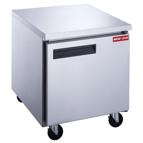 "New Air NUF-029-SS 29"" Single Door Undercounter Freezer"