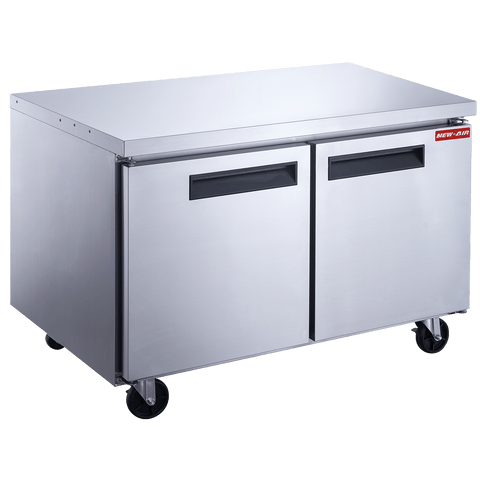 "New Air NUR-048-SS 48"" Undercounter Double Door Refrigerator"