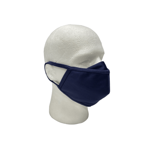 Nella 3 Layer Polyester Air Filter Face Mask - Blue