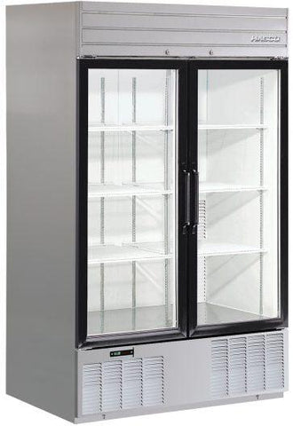 Habco SE46SXG Bottom Mount Double Glass Door Refrigerator