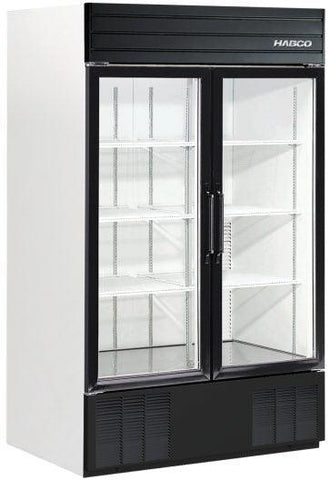 Habco SE46 Bottom Mount Two Glass Door Merchandising Refrigerator