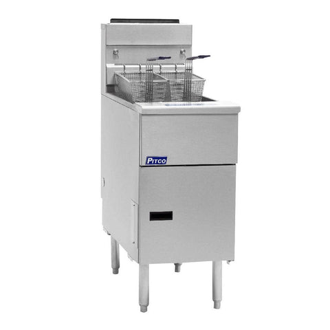 Pitco SG14S 40-50 lb. Floor Gas Fryer - 110,000 Btu