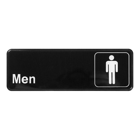 "Winco SGN-311 9"" x 3"" Informational Sign - Men"
