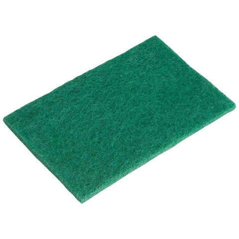 "Winco SP-96N 9"" x 6"" Nylon Scouring Pad - 6/Pack"