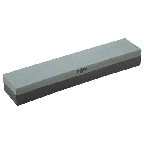 "Winco SS-1211 12"" x 2.5"" Sharpening Stone with Fine and Medium Grain"