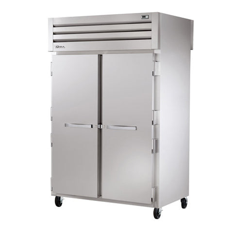 "True STR2HPT-2S-2S 52"" Pass-Thru Solid Front / Solid Rear Swing Door Heating and Holding Cabinet - 3000W"