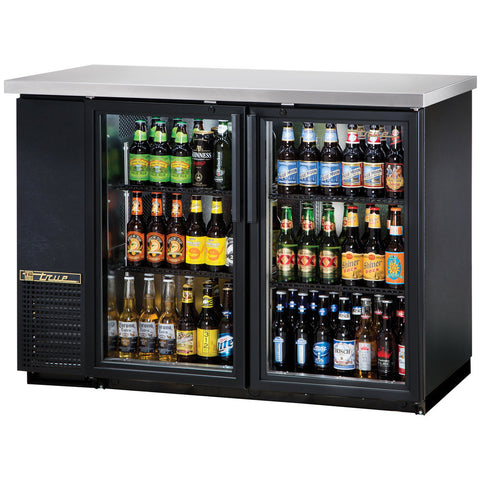 TRUE 2 DOOR BACK BAR COOLER - TBB-24-48G-LD