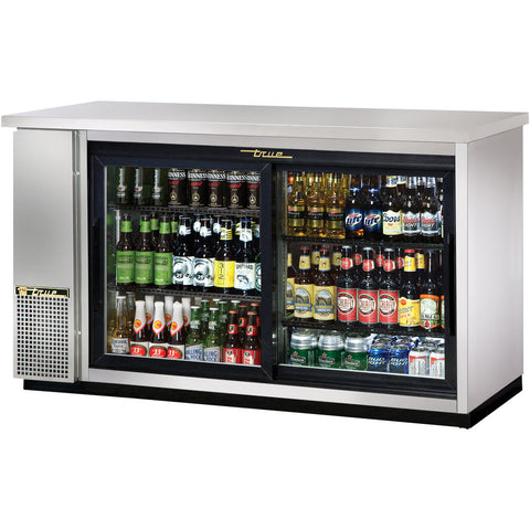 TRUE 2 DOOR BACK BAR COOLER - TBB-24GAL-48G-S-LD