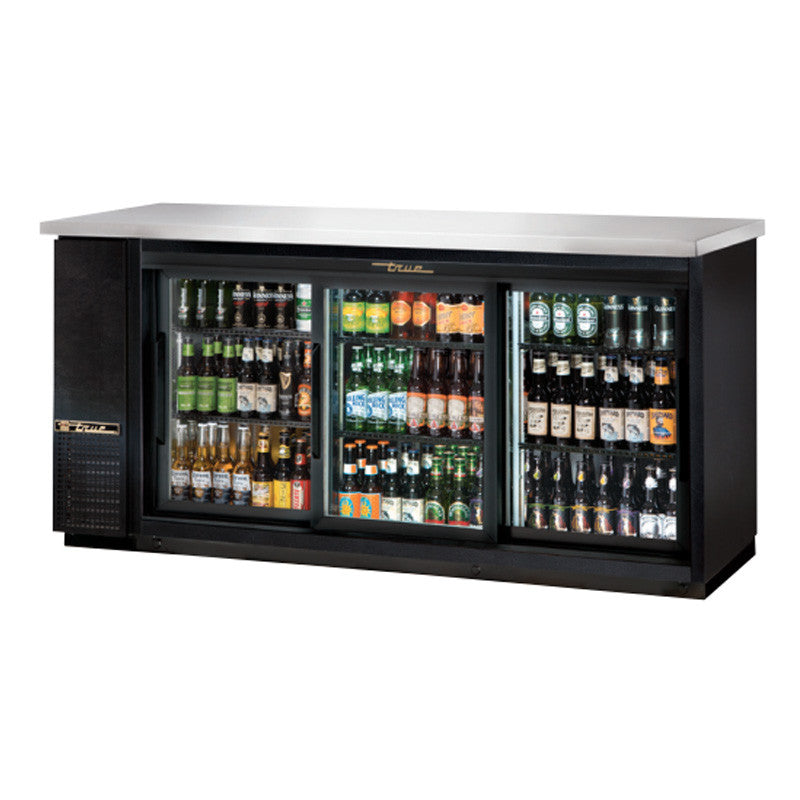 True Tbb 24 72g Sd Ld 73 Sliding Glass Door Back Bar Refrigerator
