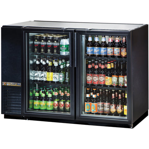 TRUE 2 DOOR BACK BAR COOLER - TBB-24GAL-48G-LD