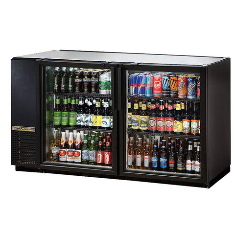 TRUE 2 DOOR BACK BAR COOLER - TBB-24GAL-60G-LD