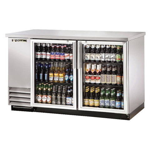 TRUE 2 DOOR BACK BAR COOLER - TBB-2G-S-LD
