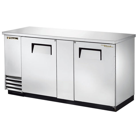 TRUE TBB-3-S STAINLESS STEEL SOLID DOOR BACK BAR REFRIGERATOR