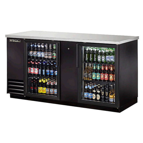 TRUE 2 DOOR BACK BAR COOLER - TBB-3G-LD