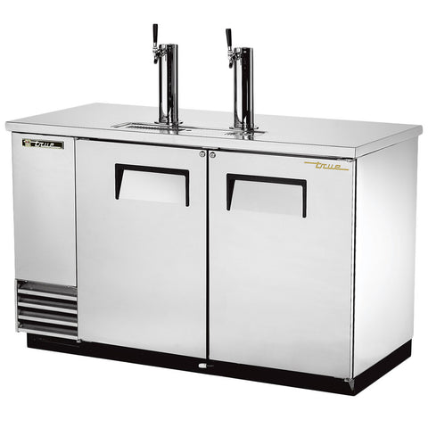 "TRUE TDD-2-S 59"" SOLID DOOR STAINLESS STEEL DIRECT DRAW BEER DISPENSER"