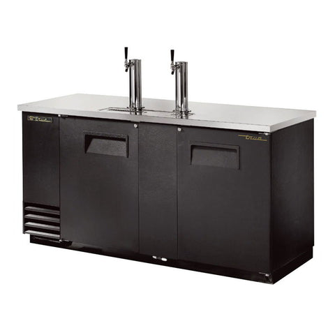 "TRUE TDD-3 70"" 3 KEG KEGERATOR DRAW BEER DISPENSER WITH 2 TAPS"