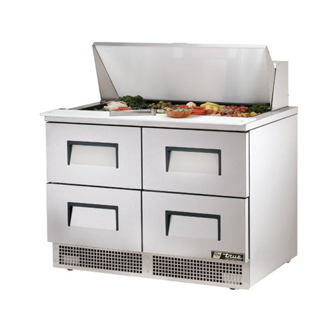 "TRUE 48"" 4 DRAWER FOOD PREP TABLE - TFP-48-18M-D-4 - Nella Cutlery Toronto"