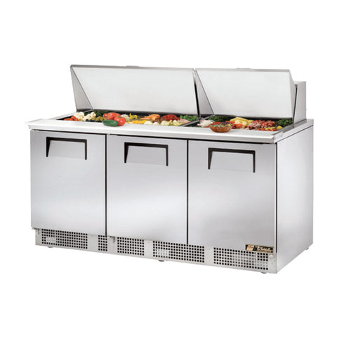 "TRUE 72"" 3 DOOR FOOD PREP TABLE - TFP-72-30M - Nella Cutlery Toronto"